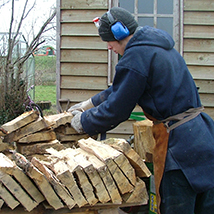 Selecting oak for pegs